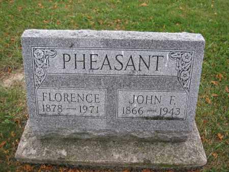 PHEASANT, FLORENCE - Union County, Ohio | FLORENCE PHEASANT - Ohio Gravestone Photos