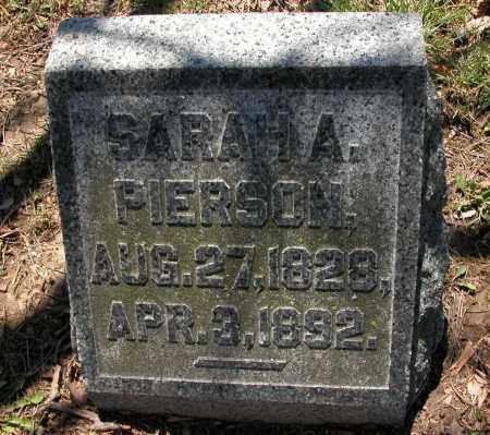 PIERSON, SARAH A. - Union County, Ohio | SARAH A. PIERSON - Ohio Gravestone Photos