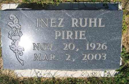 PIRIE, INEZ RUHL - Union County, Ohio | INEZ RUHL PIRIE - Ohio Gravestone Photos