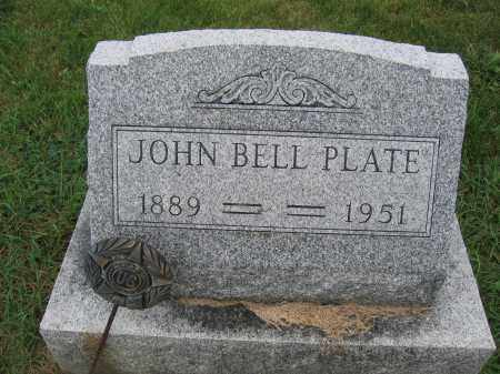 PLATE, JOHN BELL - Union County, Ohio | JOHN BELL PLATE - Ohio Gravestone Photos