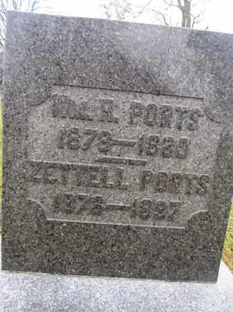PORTS, ZETTELL - Union County, Ohio | ZETTELL PORTS - Ohio Gravestone Photos
