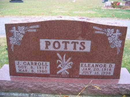 POTTS, ELEANOR D. - Union County, Ohio | ELEANOR D. POTTS - Ohio Gravestone Photos