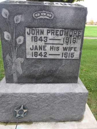 PREDMORE, JOHN - Union County, Ohio | JOHN PREDMORE - Ohio Gravestone Photos