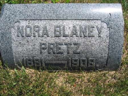 PRETZ, NORA BLANEY - Union County, Ohio | NORA BLANEY PRETZ - Ohio Gravestone Photos