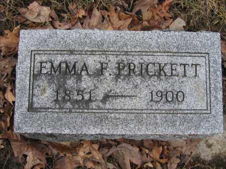 PRICKETT, EMMA F. - Union County, Ohio | EMMA F. PRICKETT - Ohio Gravestone Photos