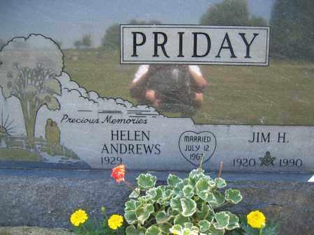PRIDAY, HELEN ANDREWS - Union County, Ohio | HELEN ANDREWS PRIDAY - Ohio Gravestone Photos