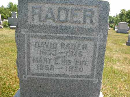 RADER, DAVID - Union County, Ohio | DAVID RADER - Ohio Gravestone Photos
