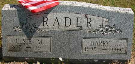 RADER, HARRY J. - Union County, Ohio | HARRY J. RADER - Ohio Gravestone Photos