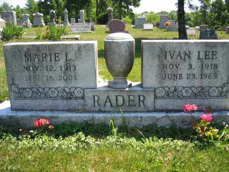 RADER, IVAN LEE - Union County, Ohio | IVAN LEE RADER - Ohio Gravestone Photos