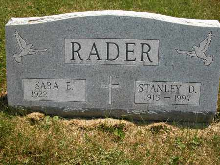 RADER, SARA E. - Union County, Ohio | SARA E. RADER - Ohio Gravestone Photos