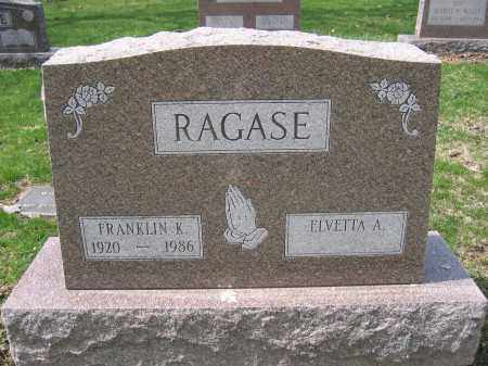 RAGASE, ELVETTA A. - Union County, Ohio | ELVETTA A. RAGASE - Ohio Gravestone Photos