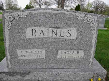 RAINES, F. WELDON - Union County, Ohio | F. WELDON RAINES - Ohio Gravestone Photos