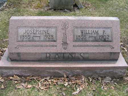 RAINS, WILLIAM P. - Union County, Ohio | WILLIAM P. RAINS - Ohio Gravestone Photos