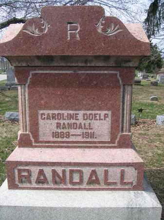 RANDALL, CAROLINE DOELP - Union County, Ohio | CAROLINE DOELP RANDALL - Ohio Gravestone Photos