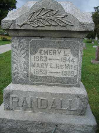 RANDALL, MARY L. - Union County, Ohio | MARY L. RANDALL - Ohio Gravestone Photos