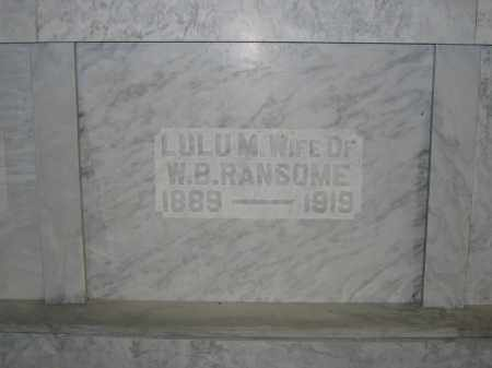 RANSOME, LULU M. - Union County, Ohio | LULU M. RANSOME - Ohio Gravestone Photos