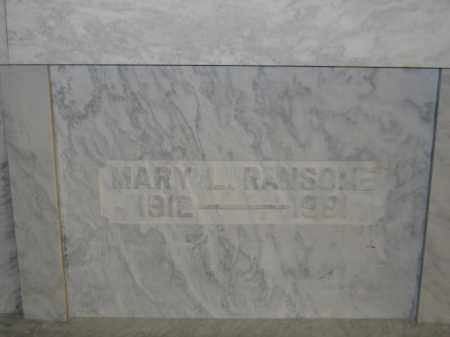 RANSOME, MARY L. - Union County, Ohio | MARY L. RANSOME - Ohio Gravestone Photos