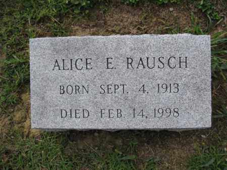 RAUSCH, ALICE E. - Union County, Ohio | ALICE E. RAUSCH - Ohio Gravestone Photos