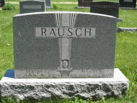 RAUSCH, AUGUST K. - Union County, Ohio | AUGUST K. RAUSCH - Ohio Gravestone Photos