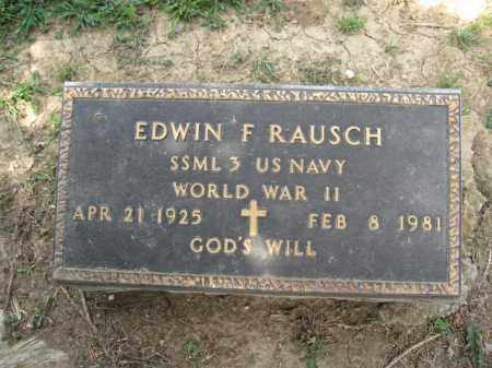 RAUSCH, EDWIN F. - Union County, Ohio | EDWIN F. RAUSCH - Ohio Gravestone Photos