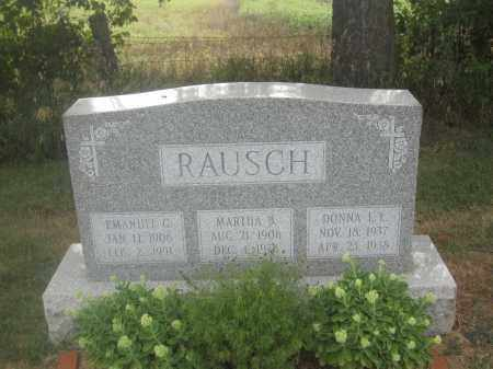 RAUSCH, DONNA L.L. - Union County, Ohio | DONNA L.L. RAUSCH - Ohio Gravestone Photos