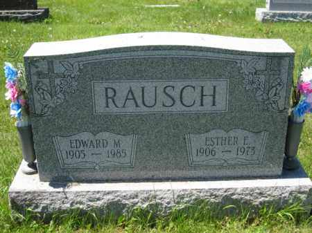 RAUSCH, ESTHER E. - Union County, Ohio | ESTHER E. RAUSCH - Ohio Gravestone Photos