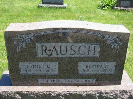 RAUSCH, ESTHER M. - Union County, Ohio | ESTHER M. RAUSCH - Ohio Gravestone Photos