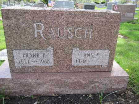 RAUSCH, ANN F. - Union County, Ohio | ANN F. RAUSCH - Ohio Gravestone Photos