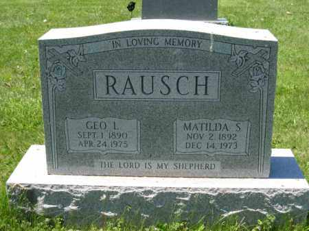 RAUSCH, MATILDA S. - Union County, Ohio | MATILDA S. RAUSCH - Ohio Gravestone Photos