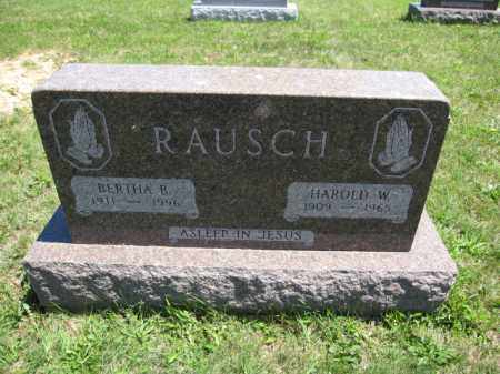 RAUSCH, HAROLD W. - Union County, Ohio | HAROLD W. RAUSCH - Ohio Gravestone Photos