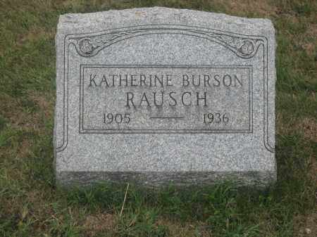 RAUSCH, KATHERINE BURSON - Union County, Ohio | KATHERINE BURSON RAUSCH - Ohio Gravestone Photos