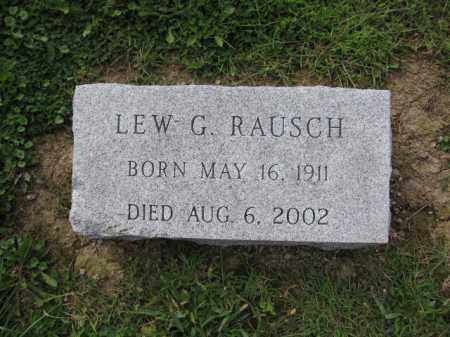RAUSCH, LEW G. - Union County, Ohio | LEW G. RAUSCH - Ohio Gravestone Photos