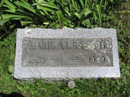 RAUSCH, MARIE A.L. - Union County, Ohio | MARIE A.L. RAUSCH - Ohio Gravestone Photos