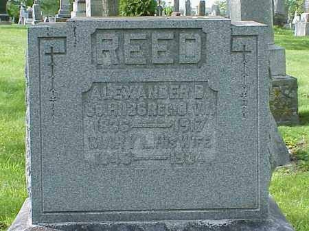 REED, ALEXANDER D. - Union County, Ohio | ALEXANDER D. REED - Ohio Gravestone Photos