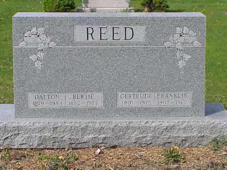 REED, BERTIE - Union County, Ohio | BERTIE REED - Ohio Gravestone Photos