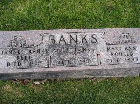 BANKS REED, JANNET - Union County, Ohio | JANNET BANKS REED - Ohio Gravestone Photos