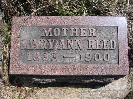 REED, MARYANN - Union County, Ohio | MARYANN REED - Ohio Gravestone Photos