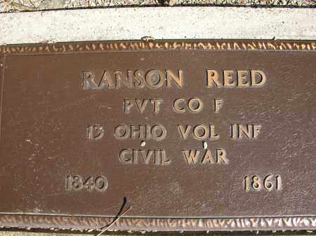 REED, RANSON - Union County, Ohio | RANSON REED - Ohio Gravestone Photos
