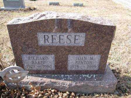 REESE, RICHARD BAKER - Union County, Ohio | RICHARD BAKER REESE - Ohio Gravestone Photos