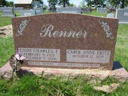 RENNER, CAROL ANNE FRITZ - Union County, Ohio | CAROL ANNE FRITZ RENNER - Ohio Gravestone Photos