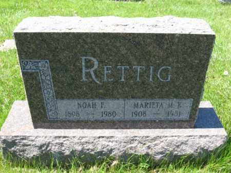 RETTIG, NOAH F. - Union County, Ohio | NOAH F. RETTIG - Ohio Gravestone Photos