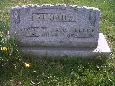 BARNES RHOADS, GEORGIANNA - Union County, Ohio | GEORGIANNA BARNES RHOADS - Ohio Gravestone Photos