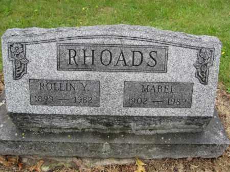 RHOADS, ROLLIN Y. - Union County, Ohio | ROLLIN Y. RHOADS - Ohio Gravestone Photos
