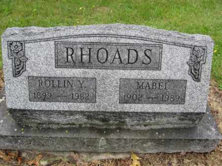 RHOADS, MABEL - Union County, Ohio | MABEL RHOADS - Ohio Gravestone Photos