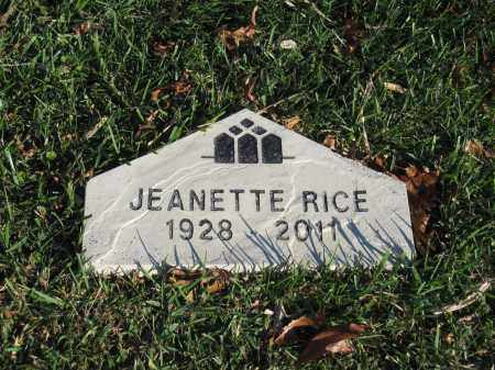 RICE, JEANETTE - Union County, Ohio | JEANETTE RICE - Ohio Gravestone Photos