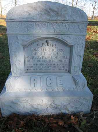 RICE, M.P. - Union County, Ohio | M.P. RICE - Ohio Gravestone Photos