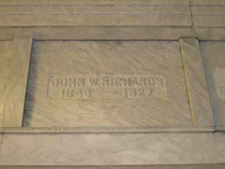 RICHARDS, JOHN W. - Union County, Ohio | JOHN W. RICHARDS - Ohio Gravestone Photos
