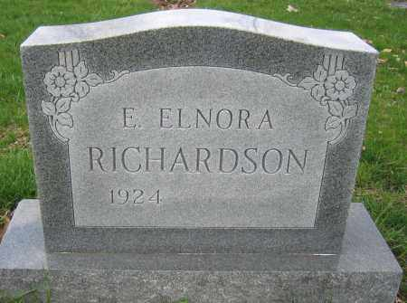 RICHARDSON, E. ELNORA - Union County, Ohio | E. ELNORA RICHARDSON - Ohio Gravestone Photos