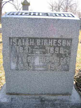 RICHESON, NANCY - Union County, Ohio | NANCY RICHESON - Ohio Gravestone Photos