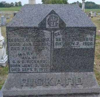 RICKARD, ELIZA - Union County, Ohio | ELIZA RICKARD - Ohio Gravestone Photos